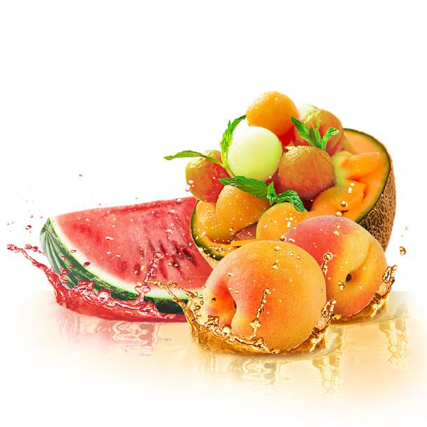 Peach Watermelon Cantaloupe