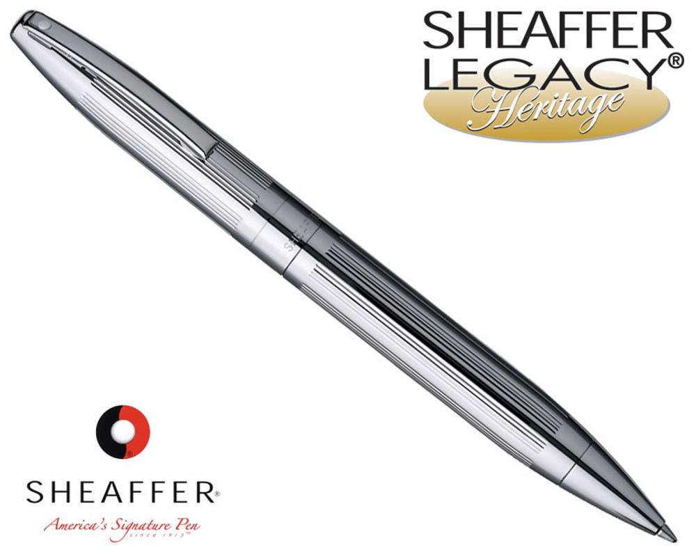 Sheaffer Legacy Heritage Deep Cut Palladium Plate Ballpoint Pen