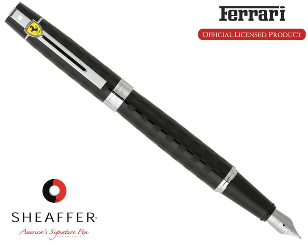 Sheaffer Ferrari 300 Checkered Flag Black Fountain Pen