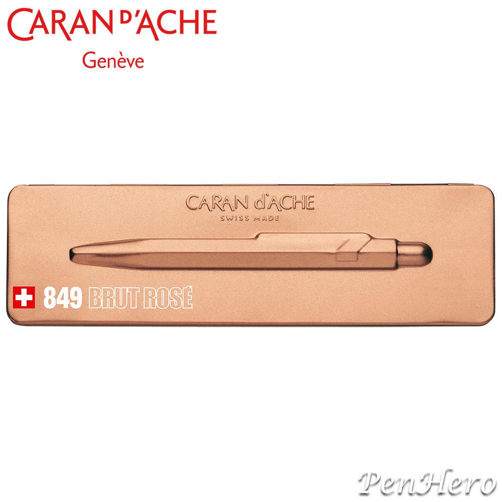 Caran d'Ache 849 Brut Rosé Ballpoint Pen 849.997, with holder