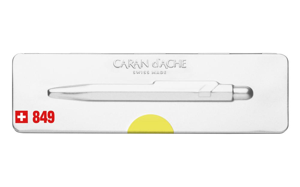 Caran d'Ache 849 POPLINE Fluorescent Yellow Ballpoint Pen