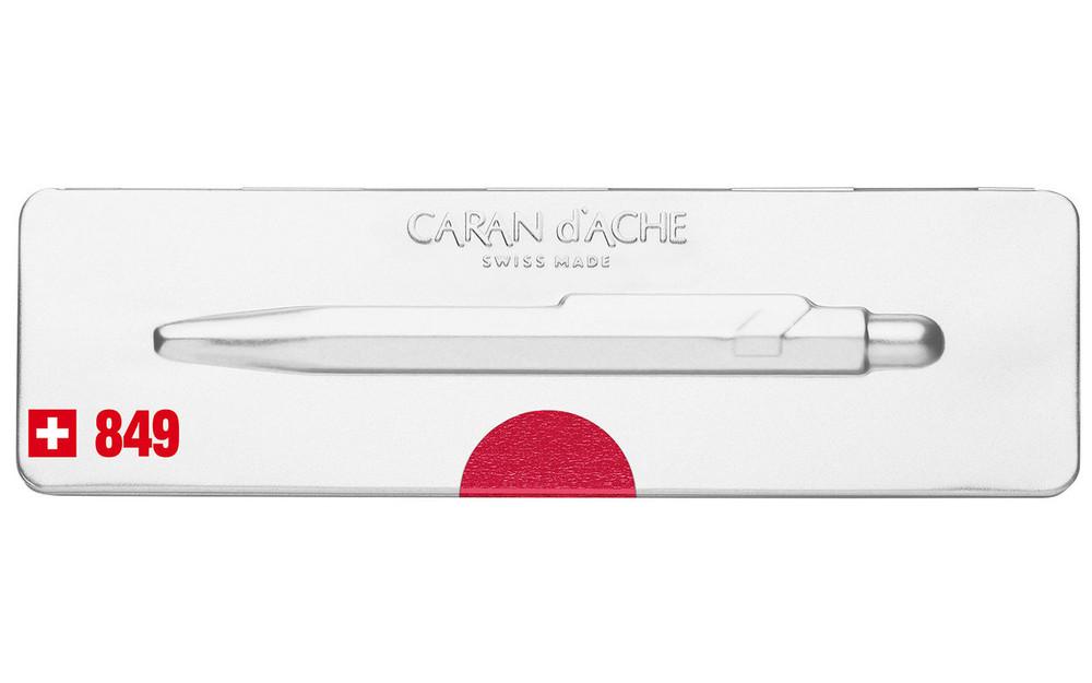 Caran d'Ache 849 POPLINE Metal-X Red Ballpoint Pen