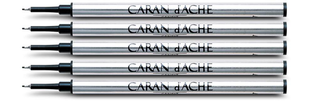 Caran d'Ache Blue Fibre Ink Cartridge Medium Point 5 Pack