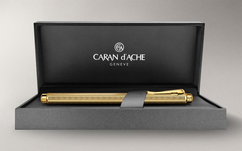 Caran d'Ache Gold-plated Ecridor Chevron Fountain Pen Medium 958.208