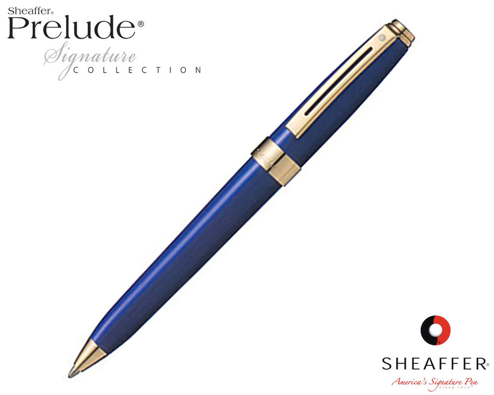 Sheaffer Prelude Signature Blue Laque G/T Ballpoint Pen