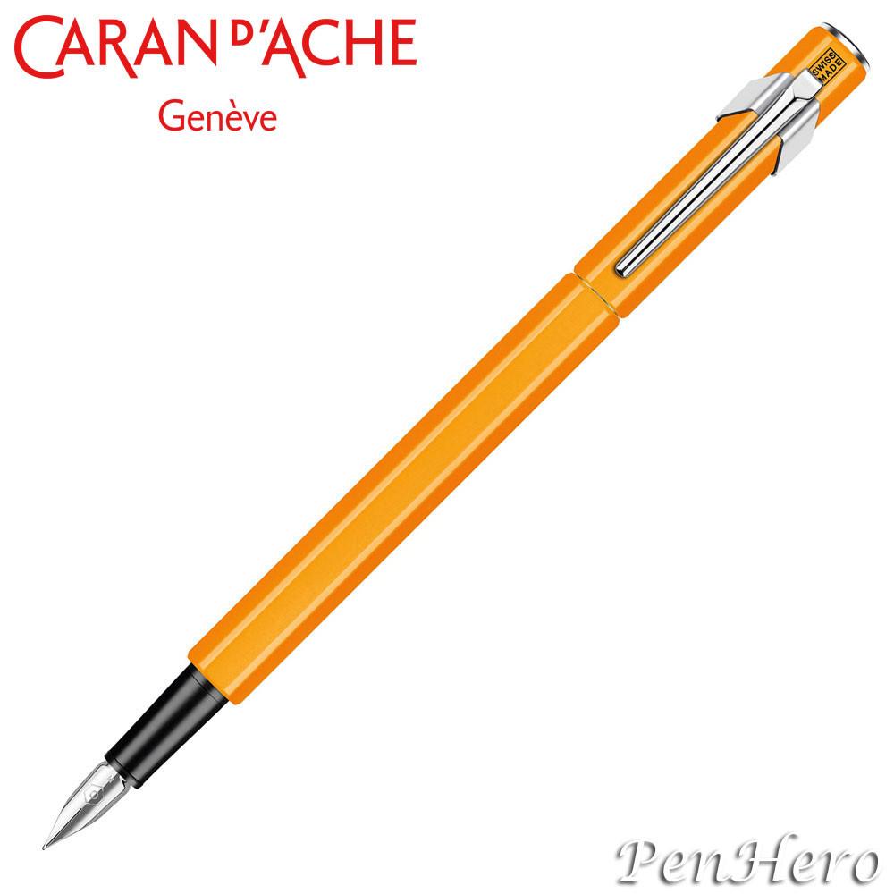 Caran d'Ache 849 Fluorescent Orange Fountain Pen Medium 840.030