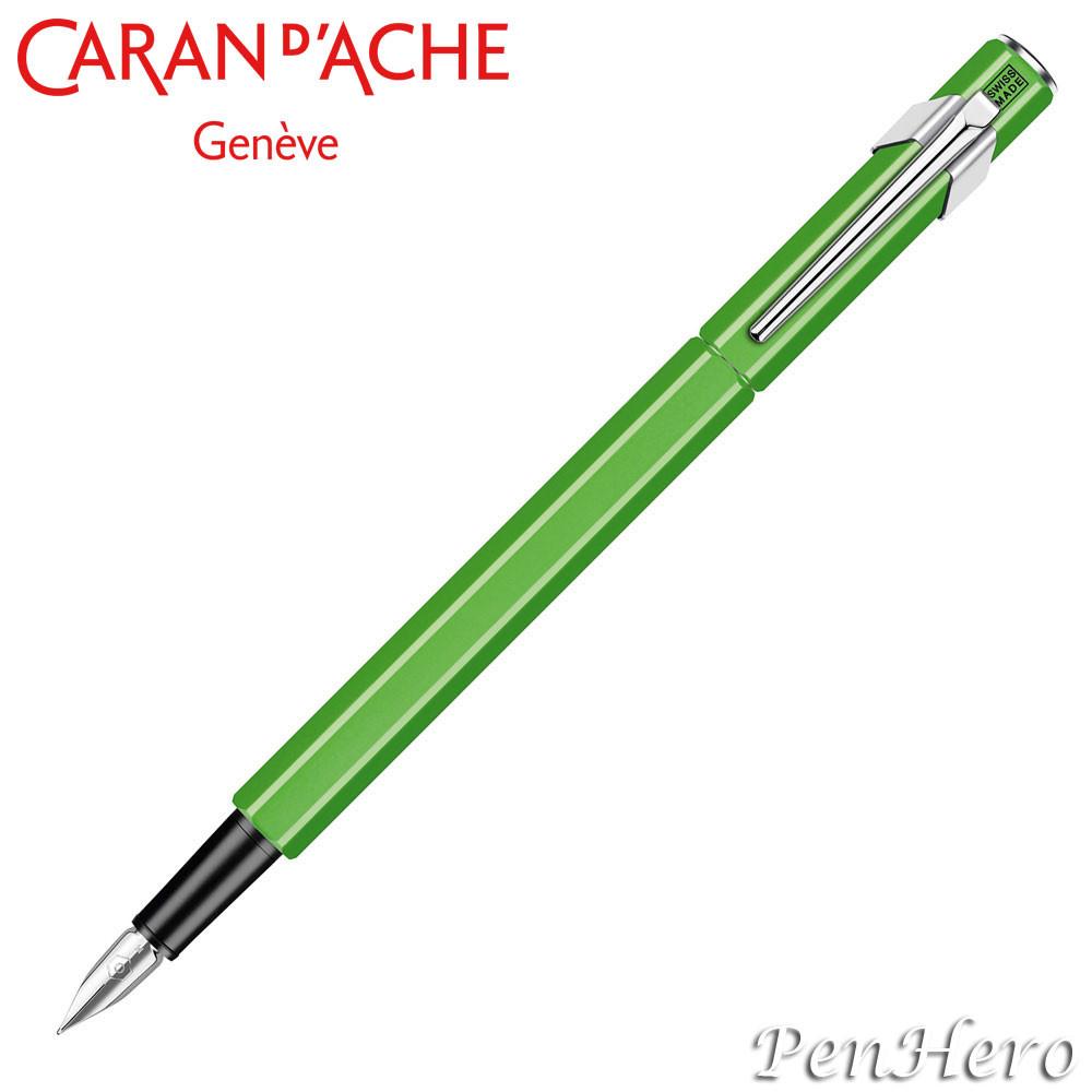 Caran d'Ache 849 Flourescent Green Fountain Pen
