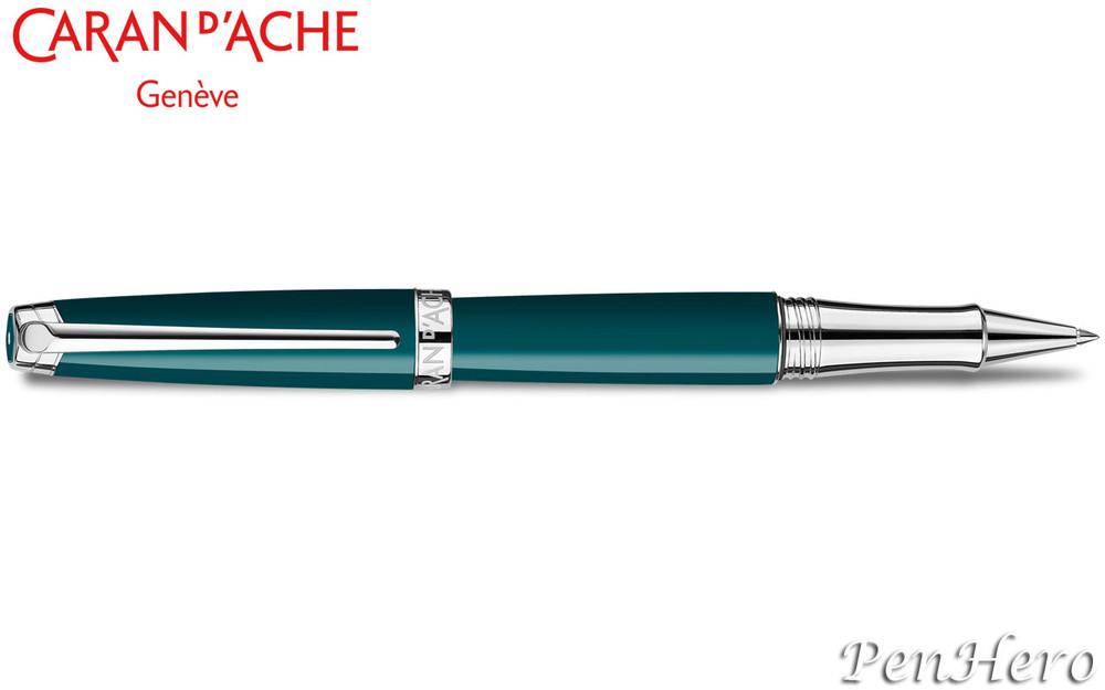 Caran d'Ache Leman Green Amazon Silver-Plate Trim Rollerball Pen