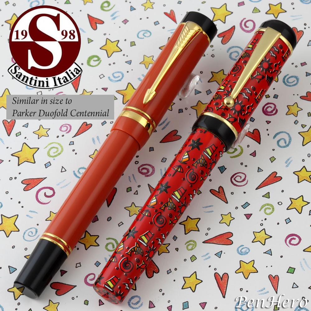 Santini Italia Hawaii Red Rollerball Pen