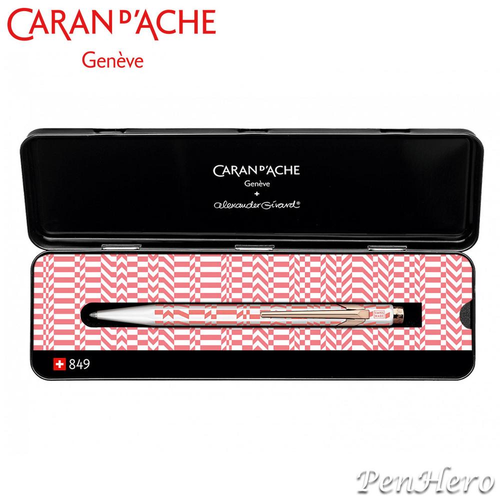 Caran d'Ache 849 Alexander Girard Pink ballpoint pen 849.123, with holder
