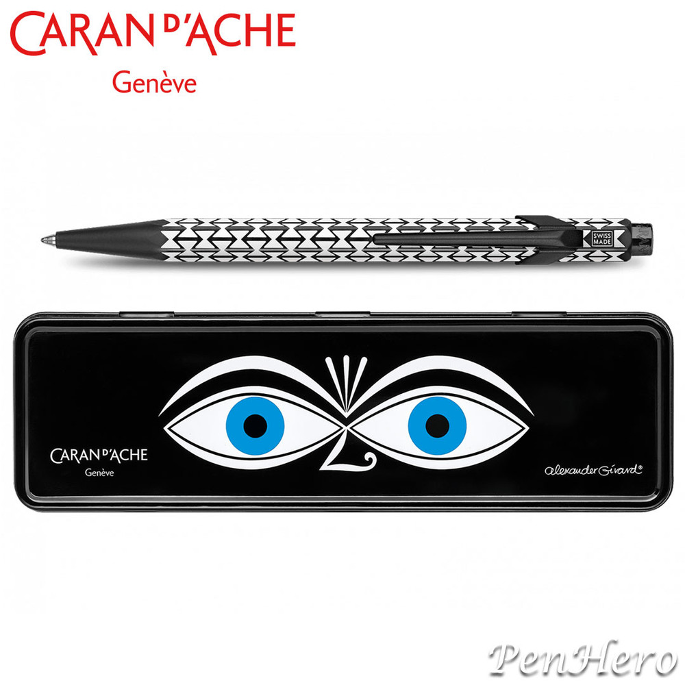 Caran d'Ache 849 Alexander Girard Black ballpoint pen 849.124, with holder