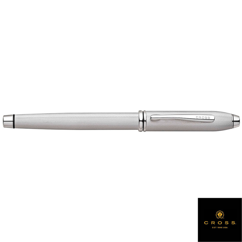 Cross Townsend Brushed Platinum Plate Fine Point Fountain Pen