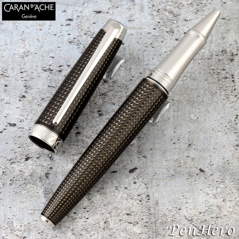 Caran d'Ache Leman de Nuit Silver-Plate Trim Rollerball Pen 4779.019