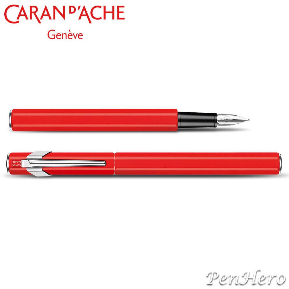 Caran d'Ache 849 Metal Red Fountain Pen Broad 843.570