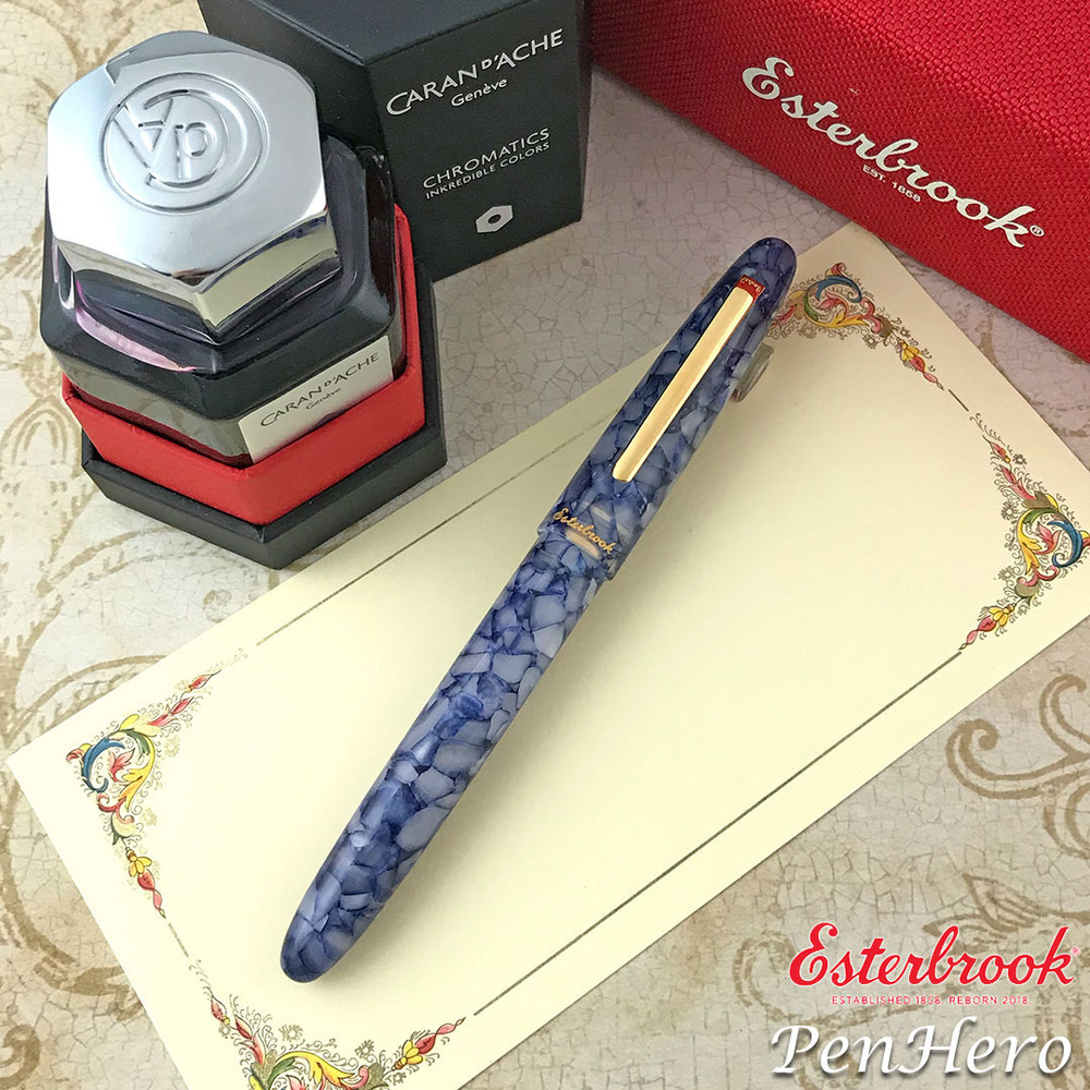 Esterbrook Estie Blueberry Gold Trim Fountain Pen Broad E536-B