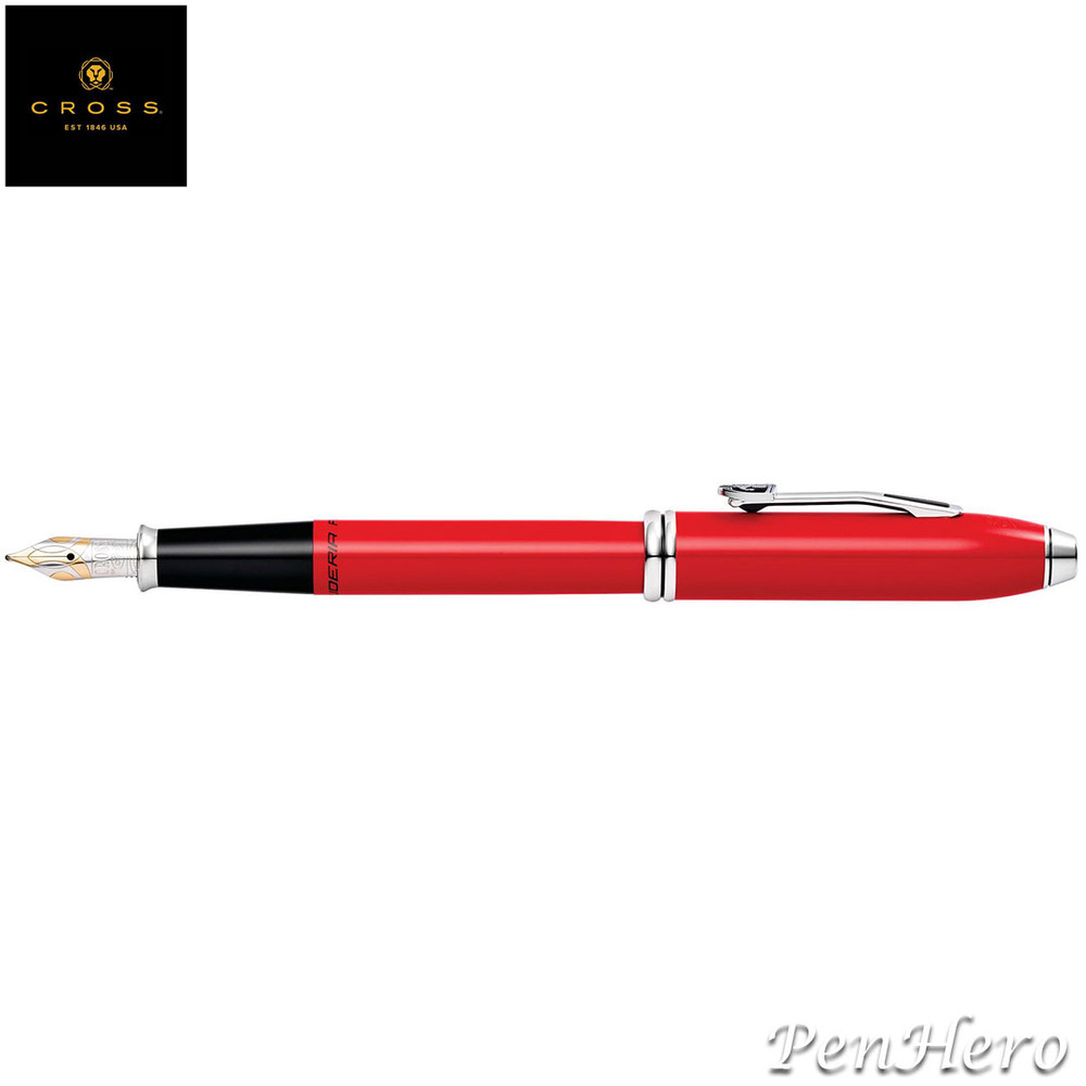 Cross Townsend Ferrari Glossy Rosso Corsa Red Lacquer Fountain Pen Medium