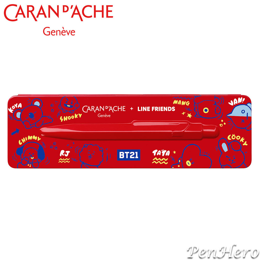 Caran d'Ache 849 Line Friends BT21 Limited Edition ballpoint pen 849.558