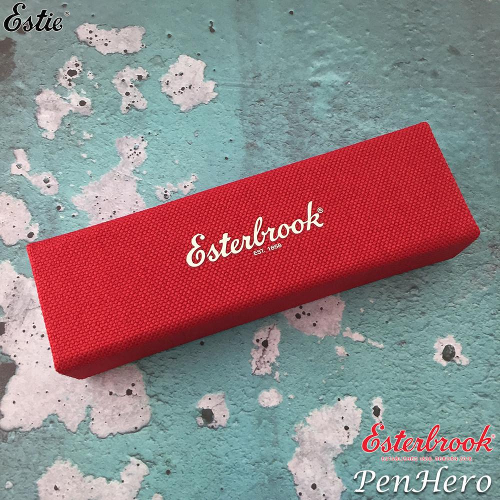 Esterbrook Estie Oversize Maraschino Red Palladium Plate Trim Fountain Pen Broad E466-B