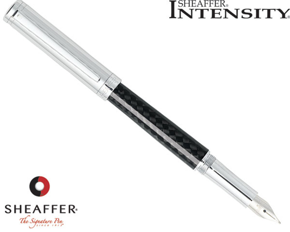 Sheaffer Intensity Chrome Cap/Carbon Fiber Barrel Fountain Pen