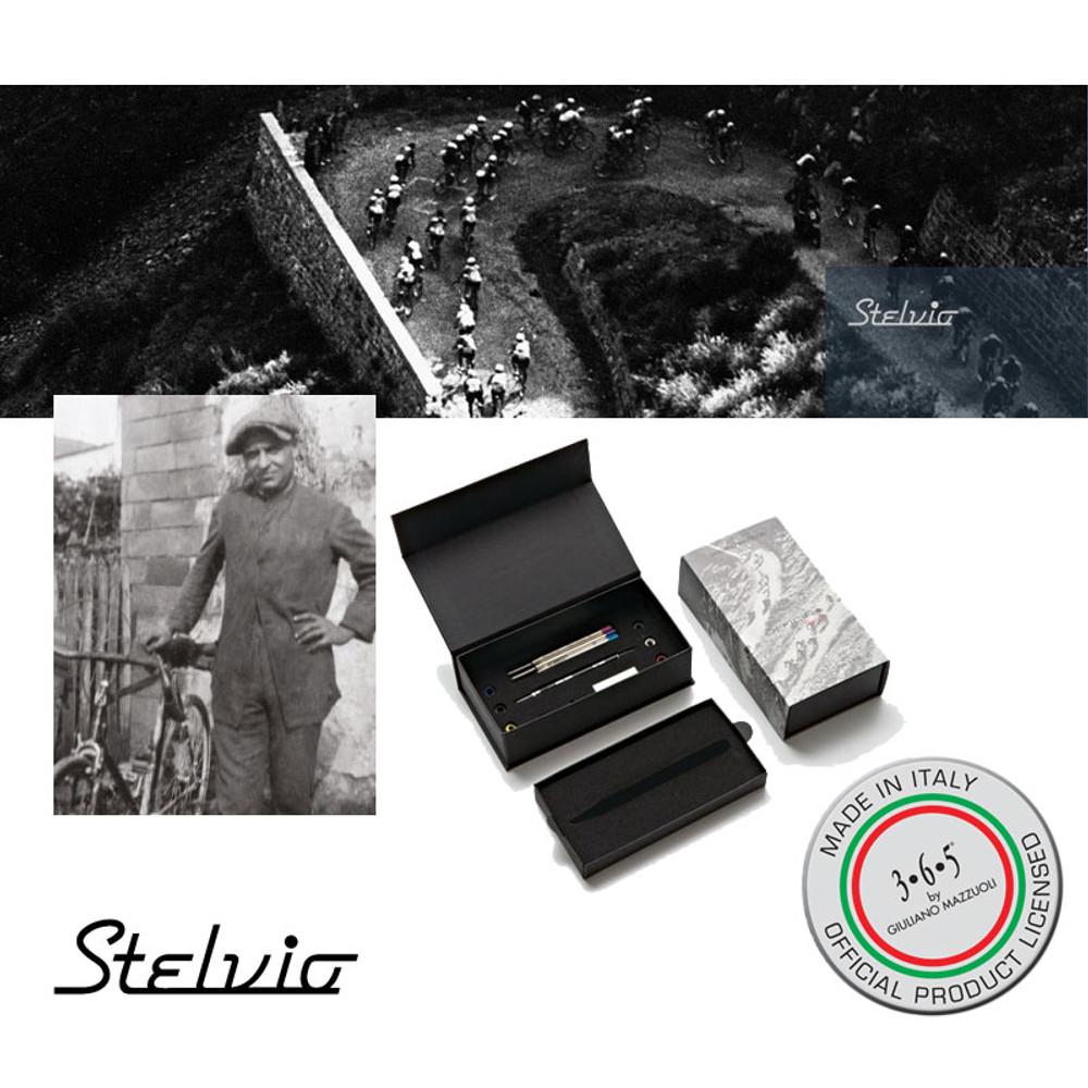 Giuliano Mazzuoli Stelvio inspiration and showing the gift box
