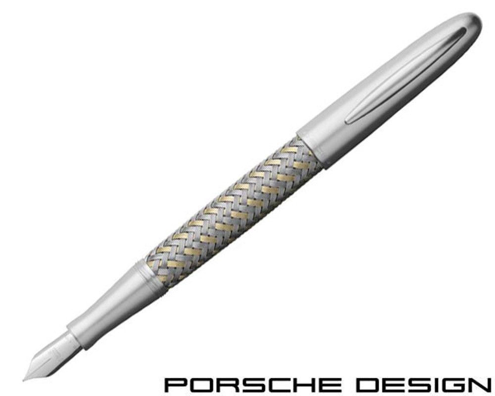 Porsche Design P3100 TecFlex Steel/Gold Fountain Pen