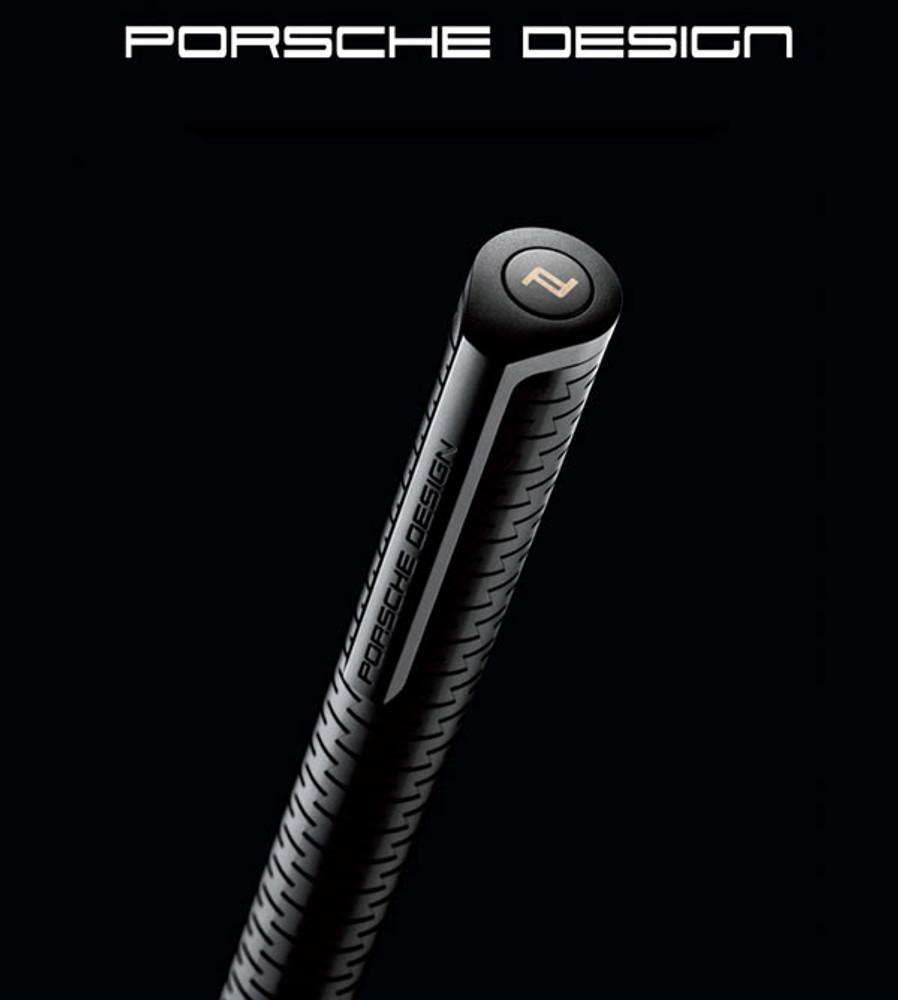 Porsche Design P3115 Laser Flex Black Ballpoint Pen cap detail