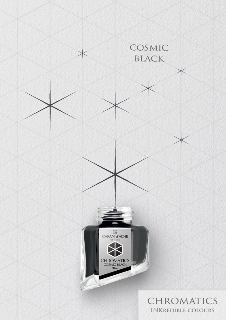 Caran d'Ache Cosmic Black Ink Bottle