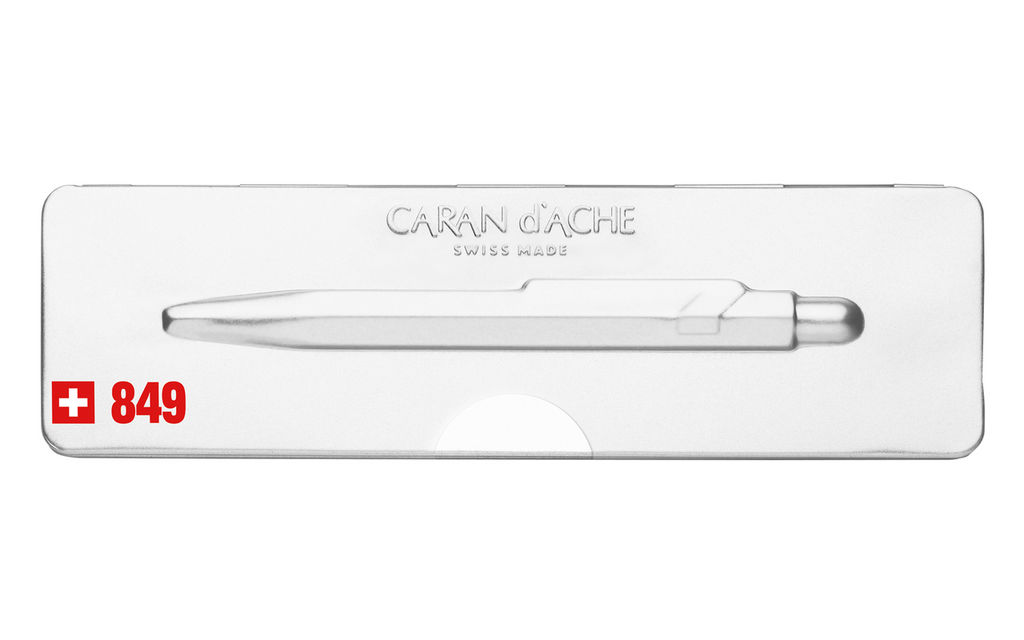 Caran d'Ache 849 POPLINE White Ballpoint Pen
