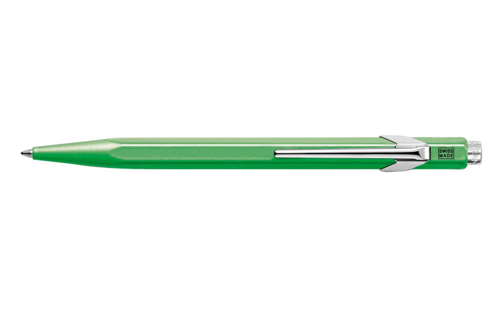 Caran d'Ache 849 POPLINE Fluorescent Green Ballpoint Pen