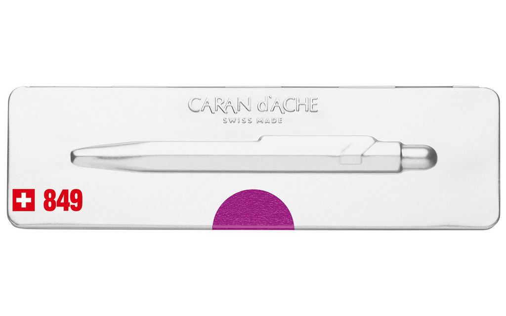 Caran d'Ache 849 POPLINE Metal-X Purple Ballpoint Pen