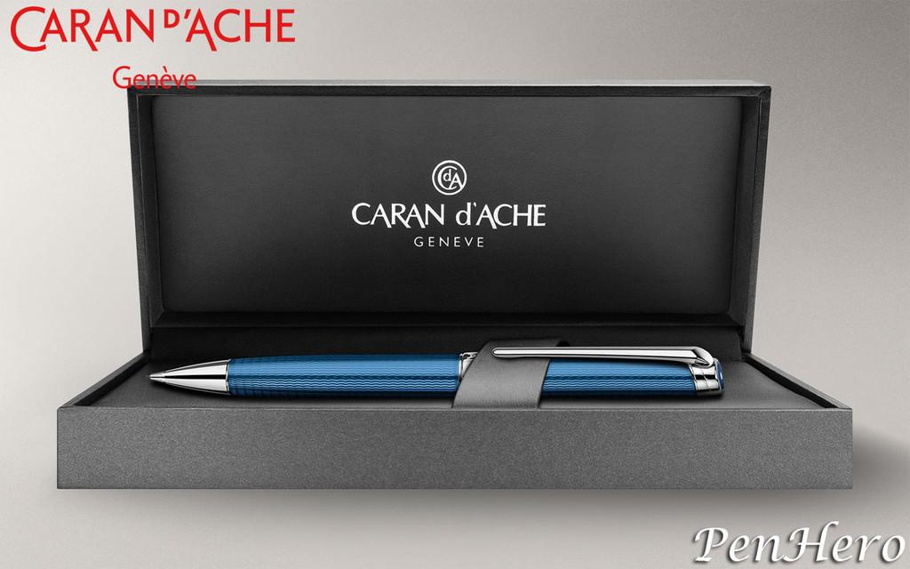 Caran d'Ache Leman Grand Bleu Silver-Plated, Rhodium Coated Mechanical Pencil 4769.168
