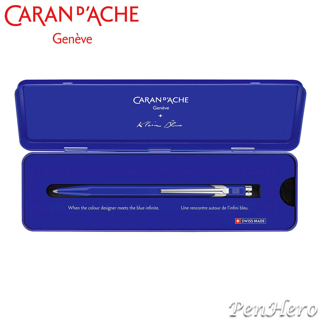 Caran d'Ache 849 Yves Klein Blue ballpoint pen