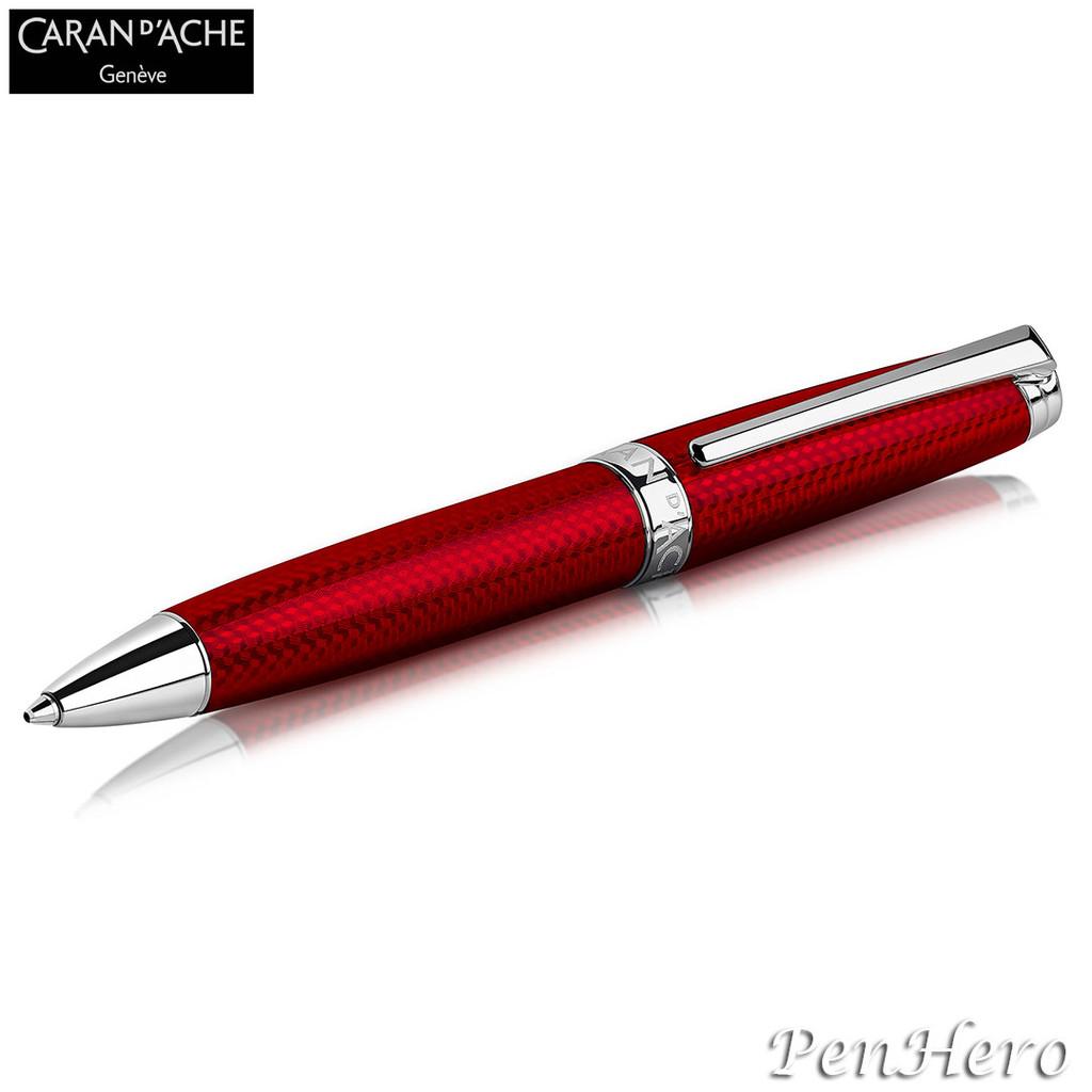 Caran d'Ache Leman Rouge Carmin Ballpoint Pen 4789.580
