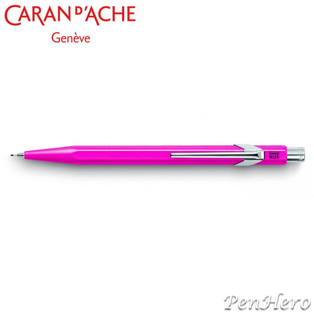 Caran d'Ache 844 Metal Flourescent Purple 0.7mm Mechanical Pencil 844.090