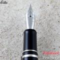 Esterbrook Estie Black Silver Trim Fountain Pen Broad E106-B