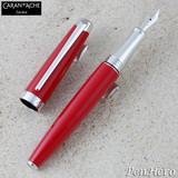 Caran d'Ache Leman V2 Scarlet Red Silver-Plate Trim Fountain Pen Medium 4799.770