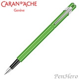 Caran d'Ache 849 Fluorescent Green Fountain Pen Fine 841.230