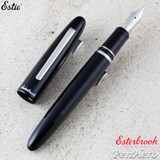 Esterbrook Estie Black Palladium Plate Trim Fountain Pen Broad E106-B