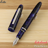 Esterbrook Estie Cobalt Palladium Plate Trim Fountain Pen Broad E146-B