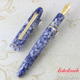 Esterbrook Estie Blueberry Gold Plate Trim Fountain Pen Broad E536-B