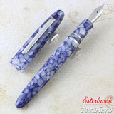 Esterbrook Estie Blueberry Palladium Plate Trim Fountain Pen Extra Fine E636-EF