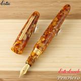Esterbrook Estie Oversize Honeycomb Gold Plate Trim Fountain Pen Extra Fine E736-EF