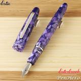Esterbrook Estie Lilac Palladium Plate Trim Fountain Pen Fine E416-F