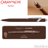 Caran d'Ache 849 Line Friends Brown Limited Edition ballpoint pen 849.559