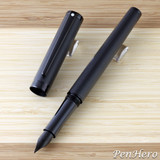 Sheaffer Intensity Engraved Matte Black PVD Fountain Pen Medium