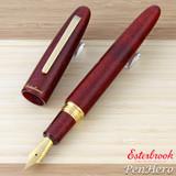 Esterbrook Estie Sparkle Oversize Garnet Gold Plate Trim Fountain Pen Fine ESPR10-F
