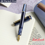 Esterbrook JR Pocket Pen Capri Blue Fountain Pen 1.1 Stub EJRBLUE-S