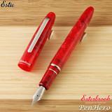 Esterbrook Estie Maraschino Red Palladium Plate Trim Fountain Pen Fine E476-F