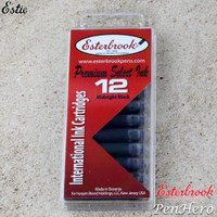 Esterbrook Midnight Black Fountain Pen Ink Cartridges - Pack of 12