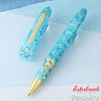 Esterbrook Estie Aqua Gold Plate Trim Rollerball Pen EAQ717
